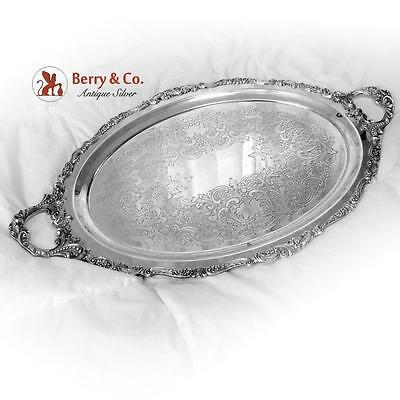 Baroque Large Waiter Tray Silverplate Wallace 1941