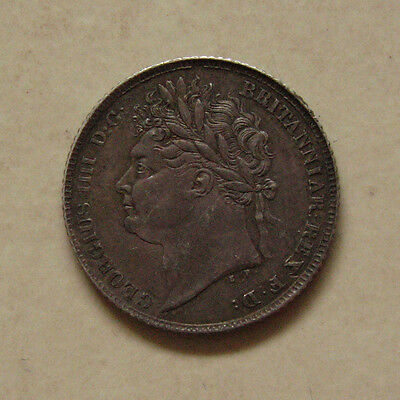 Silver Sixpence 1825 Coin King George Iiii Extremely Fine Grade
