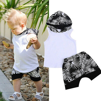 Newborn Toddler Kid Baby Boy Clothes Hoodie T-shirt Tops Shorts Pants Outfit Set
