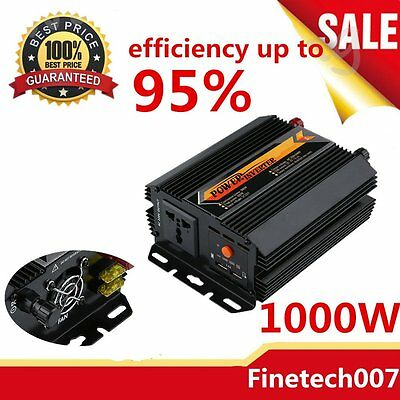 Sine Wave Power Inverter 1000W 1500W 12V-240V LCD Display For Toyoto Mazda3