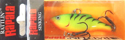 Rapala Rattlin' Rapala, 50mm, Fire Tiger, Bass Bream Tailor Flathead Lure