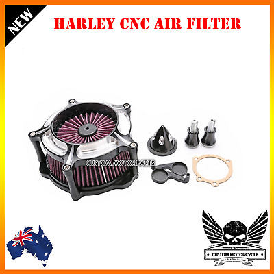 CNC Air Filter Cleaner Intake Harley Road King Glide 01-07 Softtail Dyna 96-15