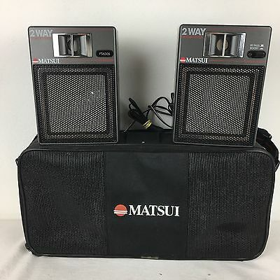 Vintage RARE 80s MATSUI PS6305 Personal Stereo Speaker System In Carry Case