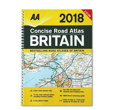 AA Road Atlas Britain: 2018 by AA Publishing (Spiral bound, 2017) - 8016