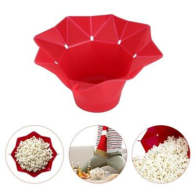 Folding Microwave Silicone DIY Popcorn Maker Container Baking Bucket Tools Soft