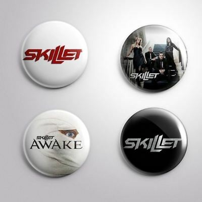 4 SKILLET - Pinbacks Badge Button Pin 25mm 1''