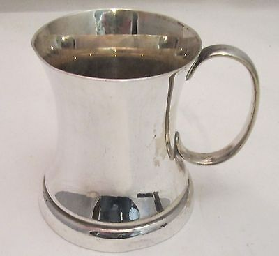 A Small Silver Plated Tankard - c1900