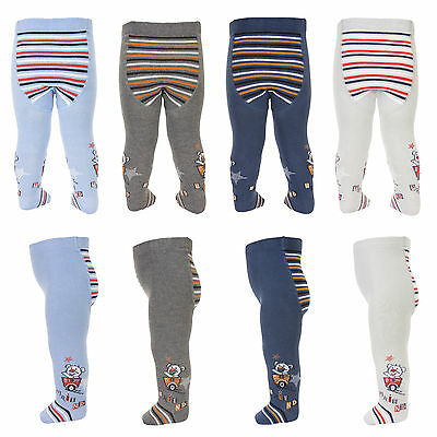 Baby Boys Cotton Tights Teddy Friends Tuptusie E2F