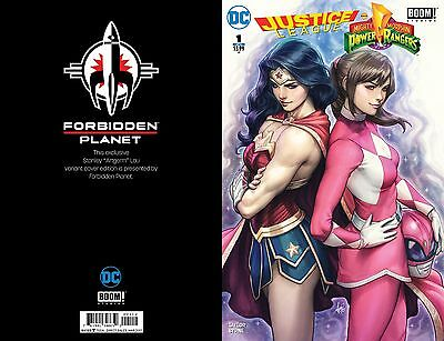 Justice League Power Rangers 1 Forbidden Planet Jetpack Comics Exclusive Variant