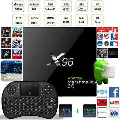 2017 SEPTEMBER Release X96 Android 6.0 S905X Quad Core Kodi 17.1 2GB+16GB 4K