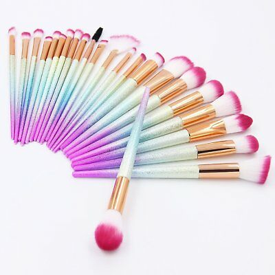 Unicorn Rose Mermaid Spiral Make Up Brushes Set Face Foundation Powder Blusher