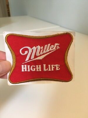 """Miller High Life Beer Embroidered Patch Sticker 3"""" (s1)"""