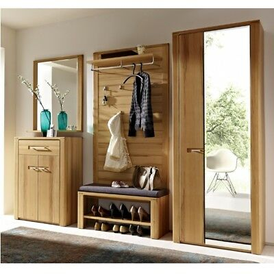 garderobe diele 3teilig mit spiegel schuhschrank. Black Bedroom Furniture Sets. Home Design Ideas