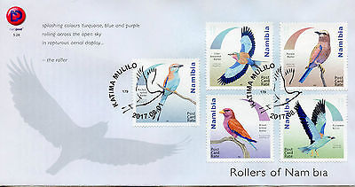 Namibia 2017 FDC Rollers of Namibia 5v Set Cover Birds Stamps
