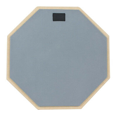 12'' Dumb Drum Soft Rubber Double Side Quiet Practise Pad Grey Drummers Gift