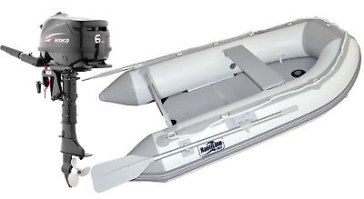 Nautiline inflatable boat PLYWOOD 270 with Hidea outboard engine - 4 strokes 6Hp