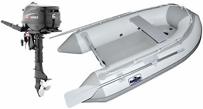Nautiline inflatable boat AIR MAT 248 with Hidea outboard engine 4 strokes 6Hp #