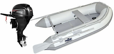 Nautiline inflatable boat PLYWOOD 420 with Hidea outboard engine - 4 strokes 20H