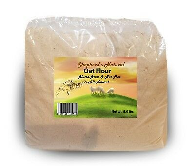 Oat Flour 5 lb / 80 oz bag by Shepherd's Natural  is Gluten, Grain & Nut Free