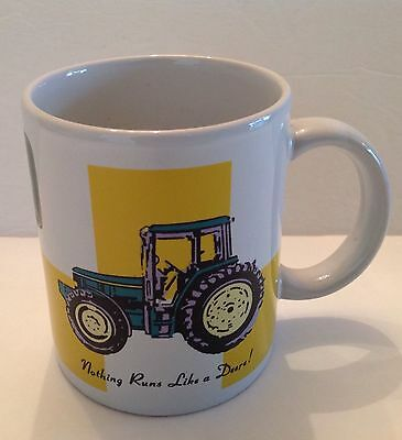 """OFFICIAL JOHN DEERE—TRACTOR—COFFEE CUP/MUG—""""Nothing Runs Like A Deere!—BY GIBSON"""