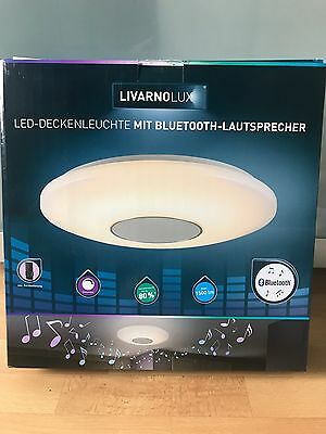led deckenleuchte mit bluetooth lautsprecher lampe livarno lux eur 25 30 picclick de. Black Bedroom Furniture Sets. Home Design Ideas