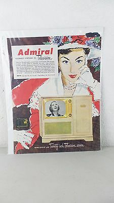 Vintage Admiral 21 Inch Tube Television with Phonograph PRINT AD 321K27 AD04