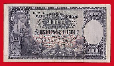 1928 Lithuania 100 Litu.