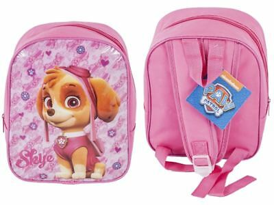 Paw Patrol Skye Girls Pink Junior Mini Nursery Backpack Travel School Trip Bag