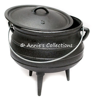 Cast Iron Potjie Pot Sz 3 Cauldron Survival Gypsy Kettle