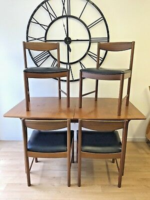 Mid century modern 1960s A.H. McIntosh of Kirkaldy extending dining table