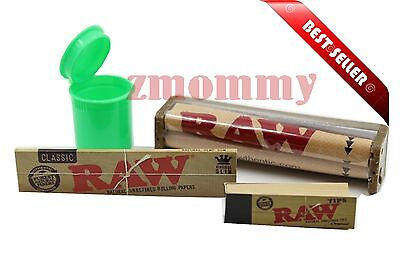 Raw Classic Rolling Paper Bundle - Raw 110m Roller + Raw King Size Papers + Tips