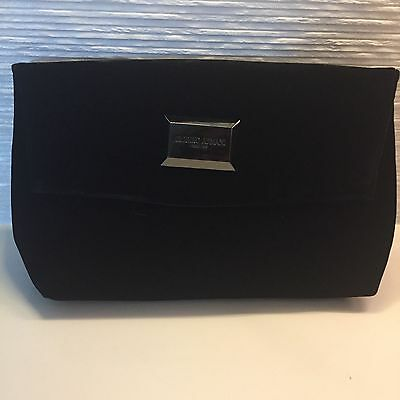 Giorgio Armani Black Velvet Clutch or Travel Case
