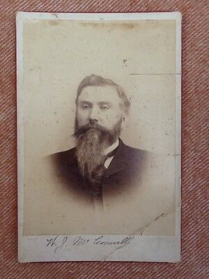 Circa 1890 Idaho 1st Senator Political Signed Cabinet Photo William J McConnell