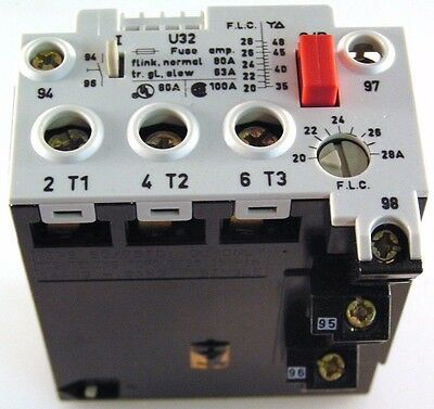 Benedikt & Jager IMO U32-28 20-28A / YD 35-48A Thermal Overload Relay U3228