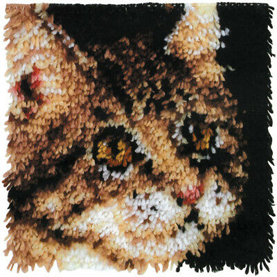 "Wonderart Latch Hook Kit 12""X12"" Tabby 426190"