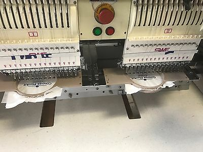 2002 4 Head - 15 needle  SWF Dual  Embroidery Machine  SWF/HC- UH1504D-45