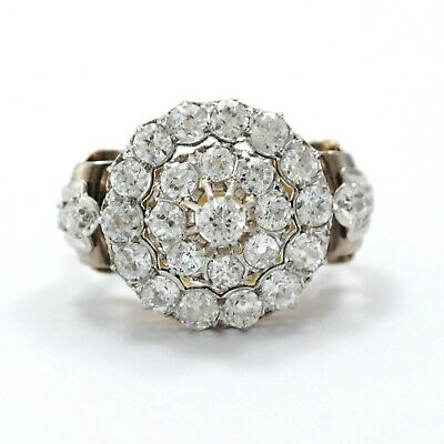 ANTIQUE RING 18K. GOLD AND DIAMONDS. 2 ct. APPROX. CIRCA 1880-1920