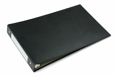 """Check Book Binder 3 Ring Business Checkbook Binders Cover Page Black 8.5"""" x 14"""""""