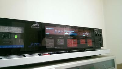 Aiwa AD-F770 3 heads 2 motors vintage audio tape deck with issues