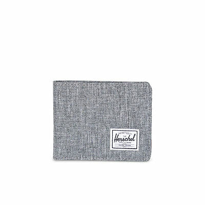 Herschel Supply Co. Roy Wallet (RFID) in Raven Crosshatch NWT Free Shipping