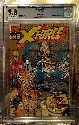 X-Force 1 CGC 9.8 2nd Print Gold Variant Lo Print 1st Appearance, Cable Deadpool