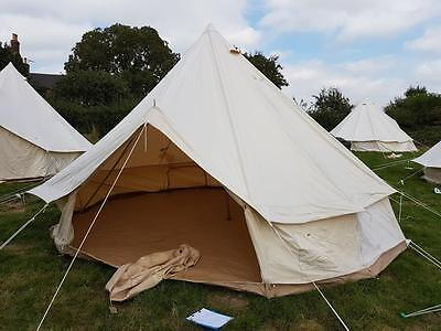 5m CANVAS BELL TENT zipped groundsheet ZIG cotton metre belltent : used bell tent - memphite.com