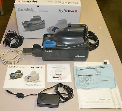 Panini MyVision X Check Scanner Direct Deposit BlK Complete System Original Box