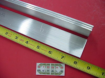"4 Pieces 1/8"" X 1-1/2"" ALUMINUM 6061 FLAT BAR 8"" long .125"" Plate Mill Stock"