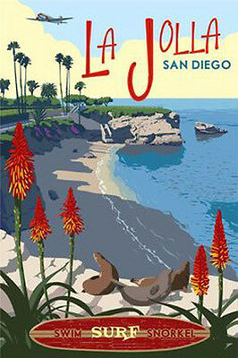 "La Jolla San Diego Vintage Retro Travel Photo Fridge Magnet 2""x3"" Collectibles"