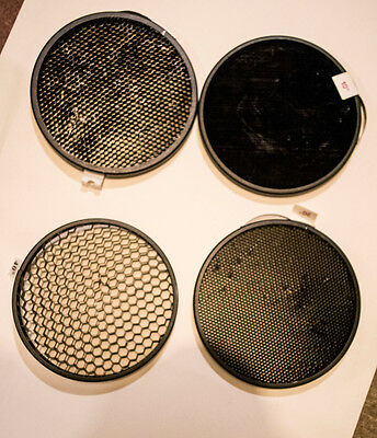 "7"" Honeycomb Grid Set Inserts for Strobe -  set of 4 - 10 20 30 40 deg"