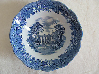 J & G Meakin-Romantic England Blue- Chequers- Cereal Bowl(s) -Up to 7 Avail