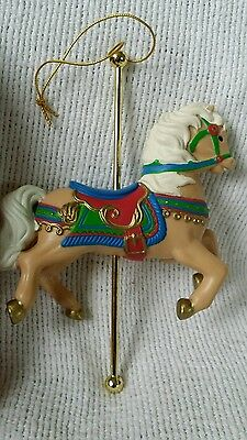 "Avon Gift Collection Carousel Animal Ornaments ""Gallant Steed"""