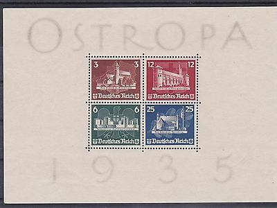 BD787) Germany 1935 Ostropa Minisheet, fresh mint never hinged