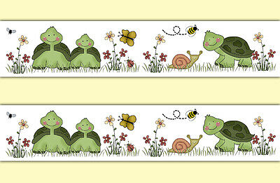 Turtle Wallpaper Border Wall Art Decal Woodland Forest Animal Nursery Stickers
